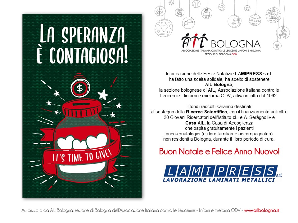 Marry Christmas from Lamipress and AIL (Italian Association for Leukaemia)