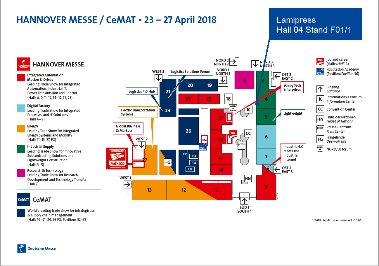 Hannover Messe 2018 Map