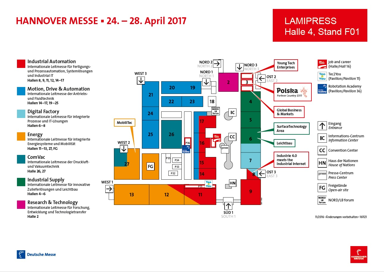 Hannover Messe 2017 Map